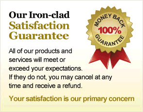 Iron Clad Money Back Guarantee